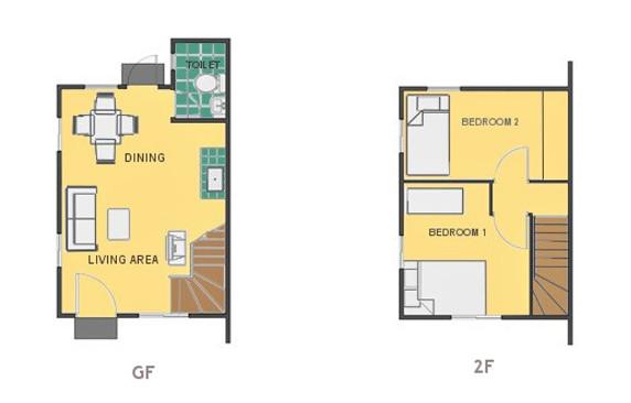 Mikaela Floor Plan House and Lot in Tagbilaran