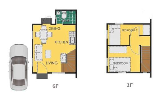Reva Floor Plan House and Lot in Tagbilaran