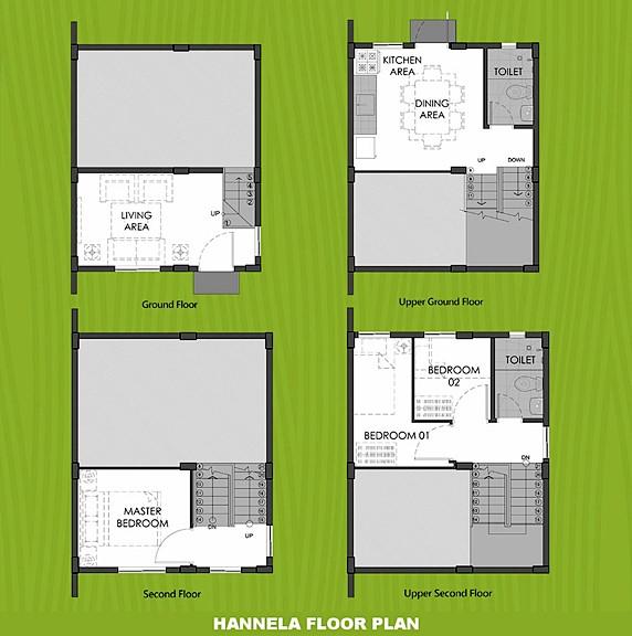 Hannela Floor Plan House and Lot in Tagbilaran