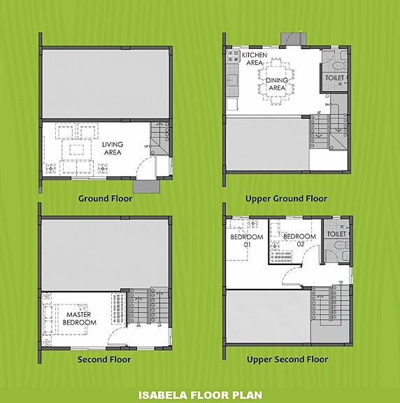 Isabela Floor Plan House and Lot in Tagbilaran