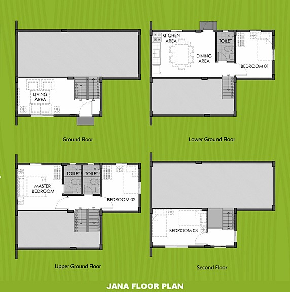 Janna Floor Plan House and Lot in Tagbilaran