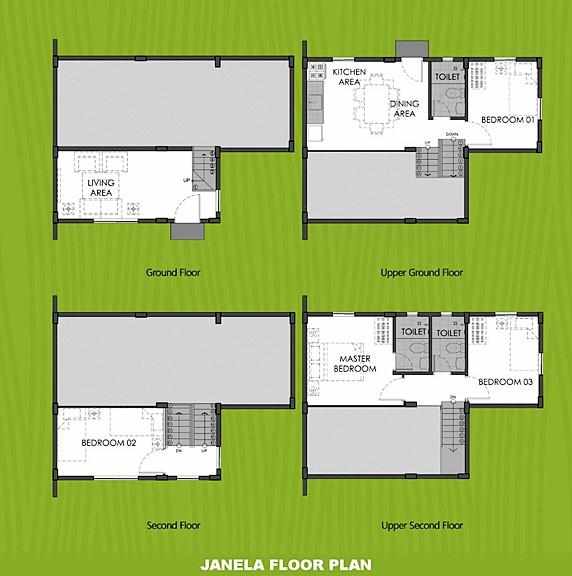 Janela Floor Plan House and Lot in Tagbilaran
