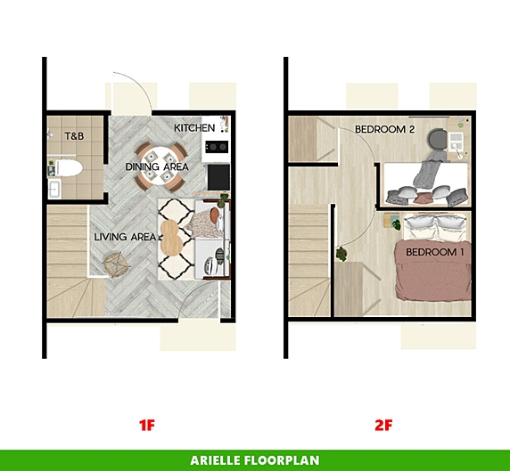 Arielle Floor Plan House and Lot in Tagbilaran