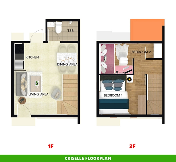 Criselle Floor Plan House and Lot in Tagbilaran